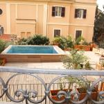 new terrace with swimming pool