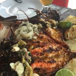 Lagosta na brasa do restaurante Caxangá, em Pipa, uma delicia. O atendimento da equipe, em espec