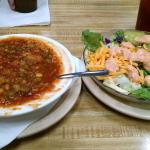 My favorite - Brunswick stew and salad