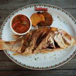 Friday's special; Pan fried fresh caught whole Red Snapper