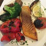 salmon and colorful veggies yay!