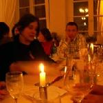 Fue una hermosa noche de velas, buen vino y excelente comida