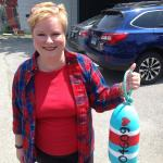 Buoy painting class at the library