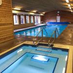 Indoor, Heated Salt Water pool with Hot Tub and changing facilities.