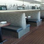 romantic booths for couples, seat up to six, great for joining friends