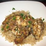 Chicken Marsala with Brown Rice