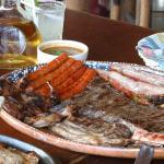 Parrillada con Codorniz,Chistorra,Costilla Ahumada,Chorizo Argentino y Arrachera