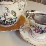 Yummy loose leaf teas in cute crockery