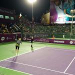 Doubles practice - ladies' quarter finals