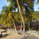Zimmer, Strand und Strandbar