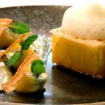 Ananas confit à la Vanille -  - Jardins Aliénor - hotel restaurant ile oleron
