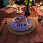 Flaming dessert - almost a meal in itself!