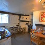 view of the Kitchen which has an electric cooker, microwave and all a family will need