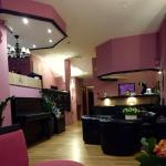 Pink is hotel lobby, green is our room, #33