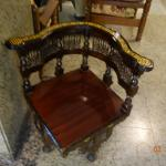 An attractive ornamental chair at reception lobby.
