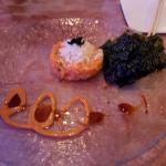 salmon tartare with seaweed sheets