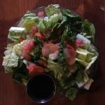 House salad, margherita pizza, BBQ pizza, skinny Hawaiian