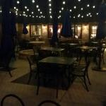 Outside dining area, weather allowing
