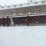 Snowing hard!