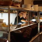 kitchen is open to the restaurant so you can watch chef Norman at work