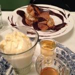 profiteroles and affogato for dessert