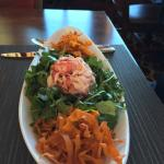 The Lobster Salad, with crunchy fried carrot noodles