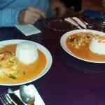 Un curry rouge et un Panang
