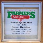 The Market's schedule