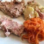 Antipasti misti (patè e verdure)