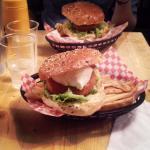 "Burger ""stairway to heaven"" avec steak de poisson"