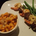 Surf and Turf Skewer with Mac and Cheese! YUM!