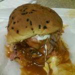 Awesome roast beef sandwich