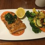 Salmon entree in Sazo's