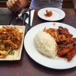 The sublime Peking Pork Chops and rice for $9.50