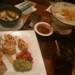 Seafood Quesadilla and Tortilla Soup