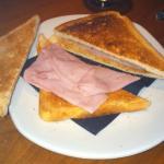 cheese and ham toastie.