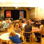 The theatre hall as a place for board games.