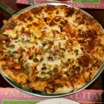 pepperoni and Italian sausage pizza ... the BEST in southeast Michigan