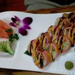 Salmon and White Tuna Sashimi & Victoria Secret Roll