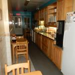 This is kitchen on ground floor. They served breakfast there.