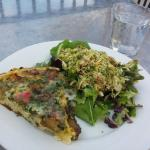 Frittata, brussels sprout & bacon salad