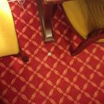 tapa de cerveza debajo del escritorio, en lugar muy visible
