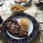 Entrecote steak with fries