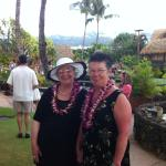 My good friend and I at the luau!
