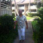My son at the condos on our way to the luau!