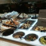 Pictures of the outside and inside of Jason's deli, the salad bar & my food, which was amazing!
