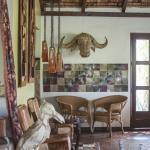 Lounge of Hatari Lodge