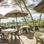 verandah with viewings on Kilimanjaro