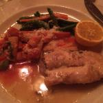 The sturgeon in lemon caper sauce
