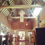 Gorgeous beams across the ceiling and original features from when it was a barn..